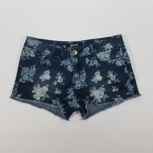 Rewash Flower Destred Denim Shorts Size 9